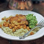 Moroccan Chicken Recipe with Chickpeas and Spicy Avocado