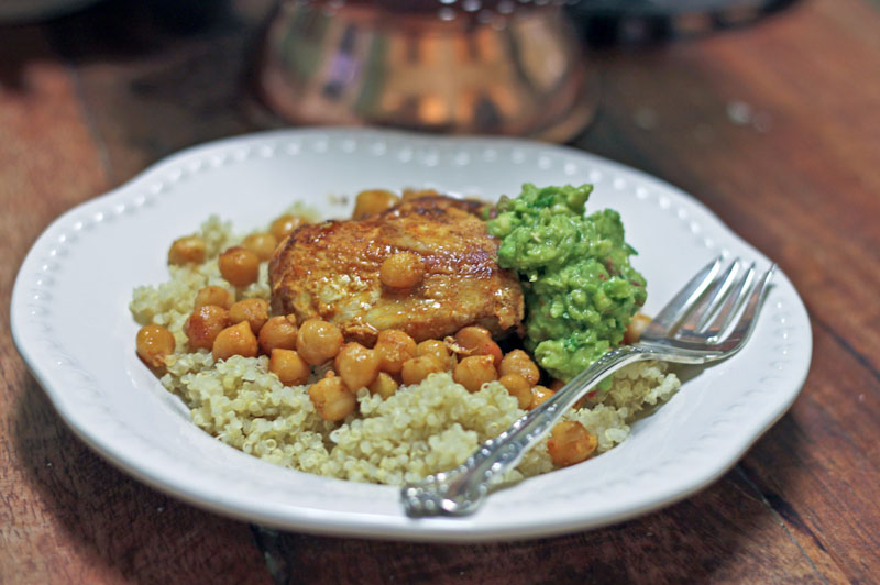 Moroccan chicken recipe with chickpeas and spicy avocado vintage mixer forumfinder