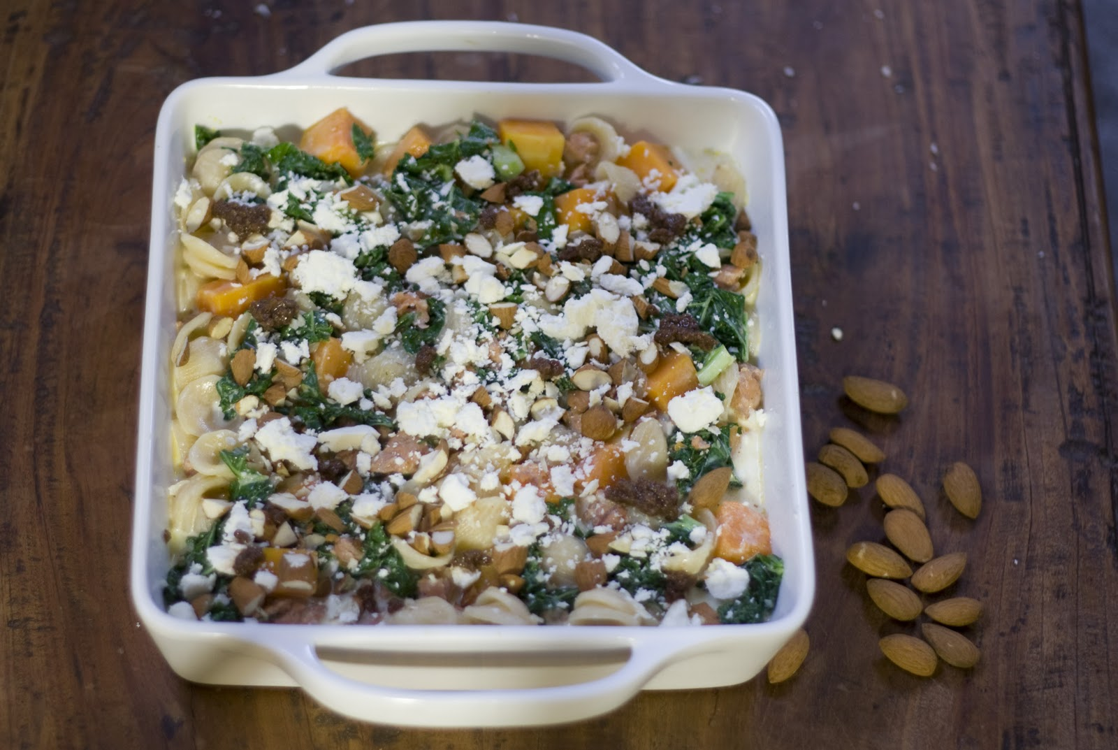 Baked Pasta with Butternut Squash, Sausage and Kale | Vintage Mixer