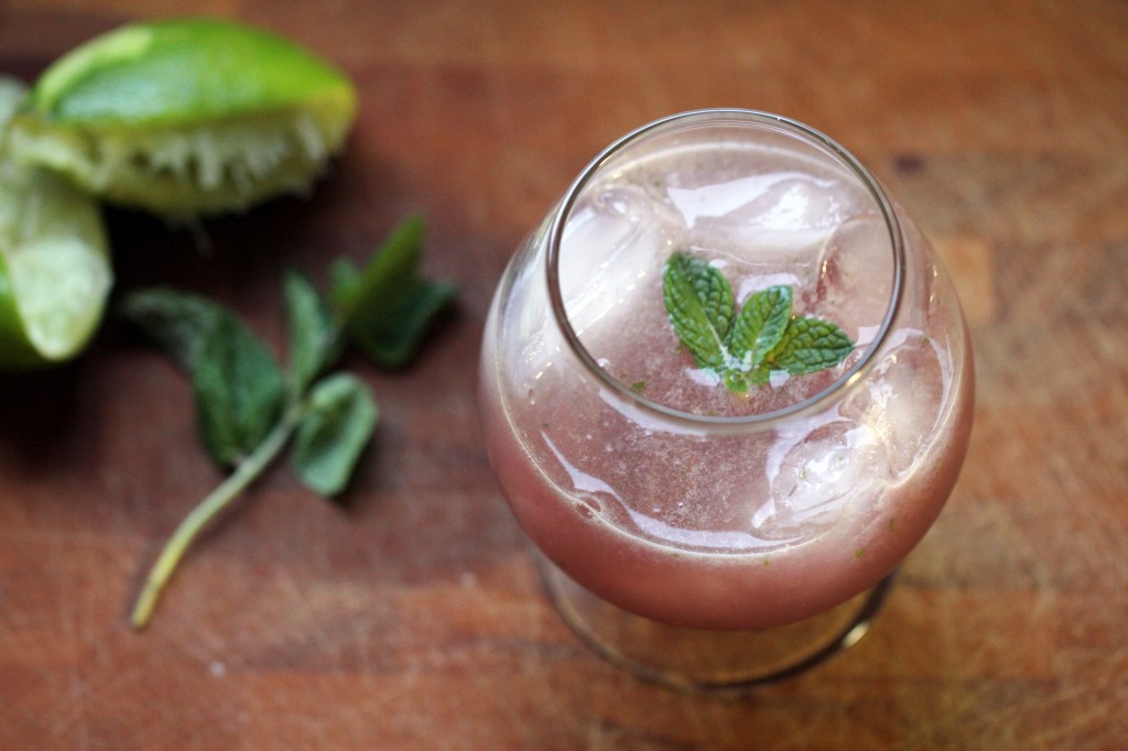 Cranberry Pomegranate Lime Cocktail
