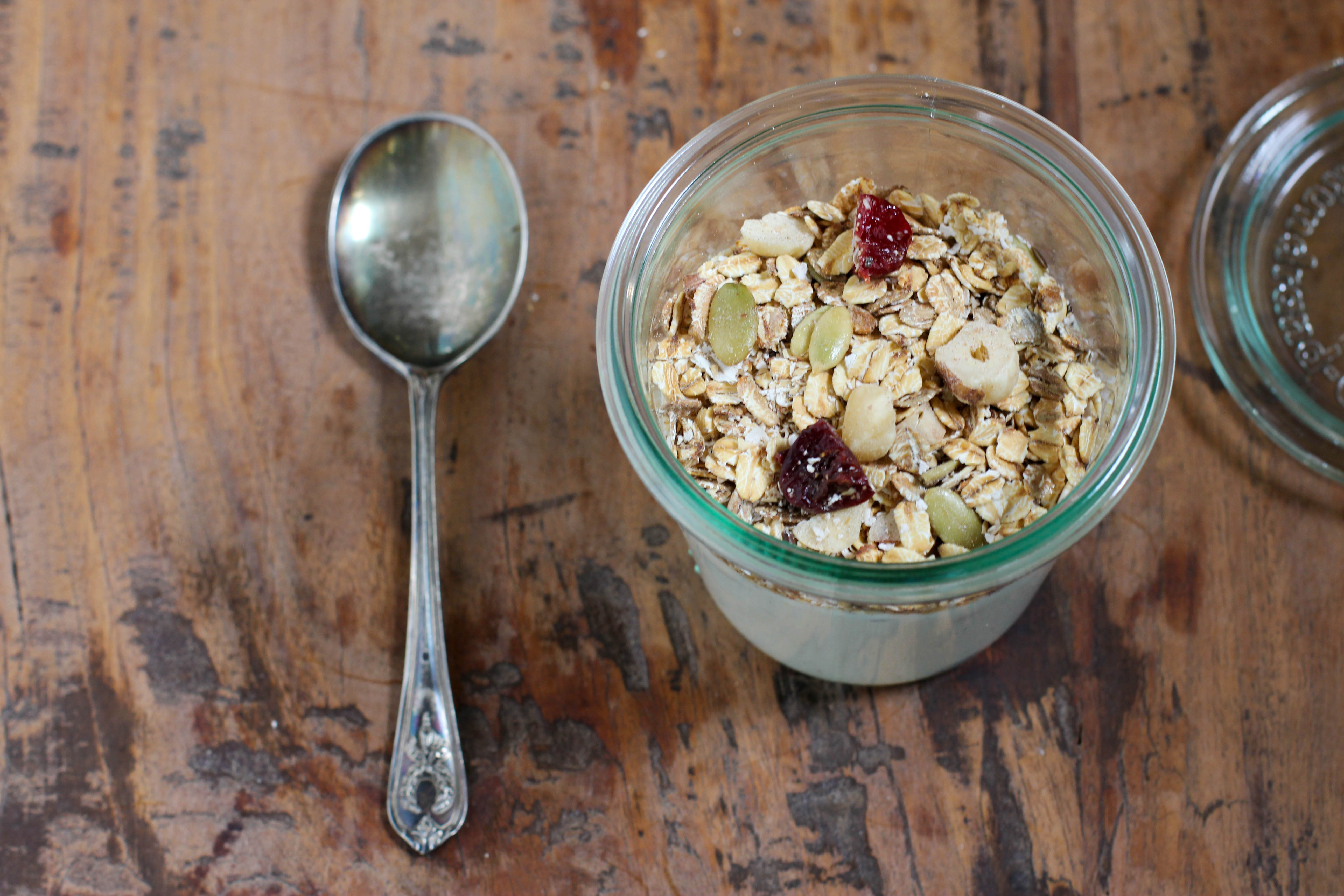 Homemade Muesli Recipe for breakfast in a jar | Vintage Mixer