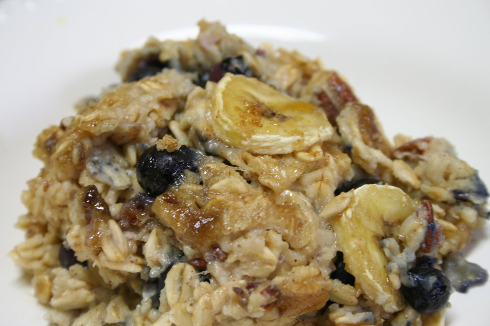 Baked Banana Oatmeal