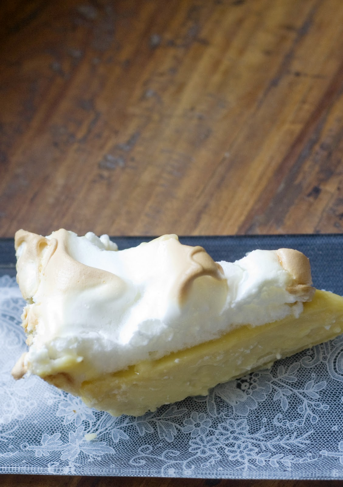 Maple Buttermilk Pie with Meringue | Vintage Mixer