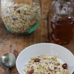 Homemade Muesli Recipe for breakfast in a jar