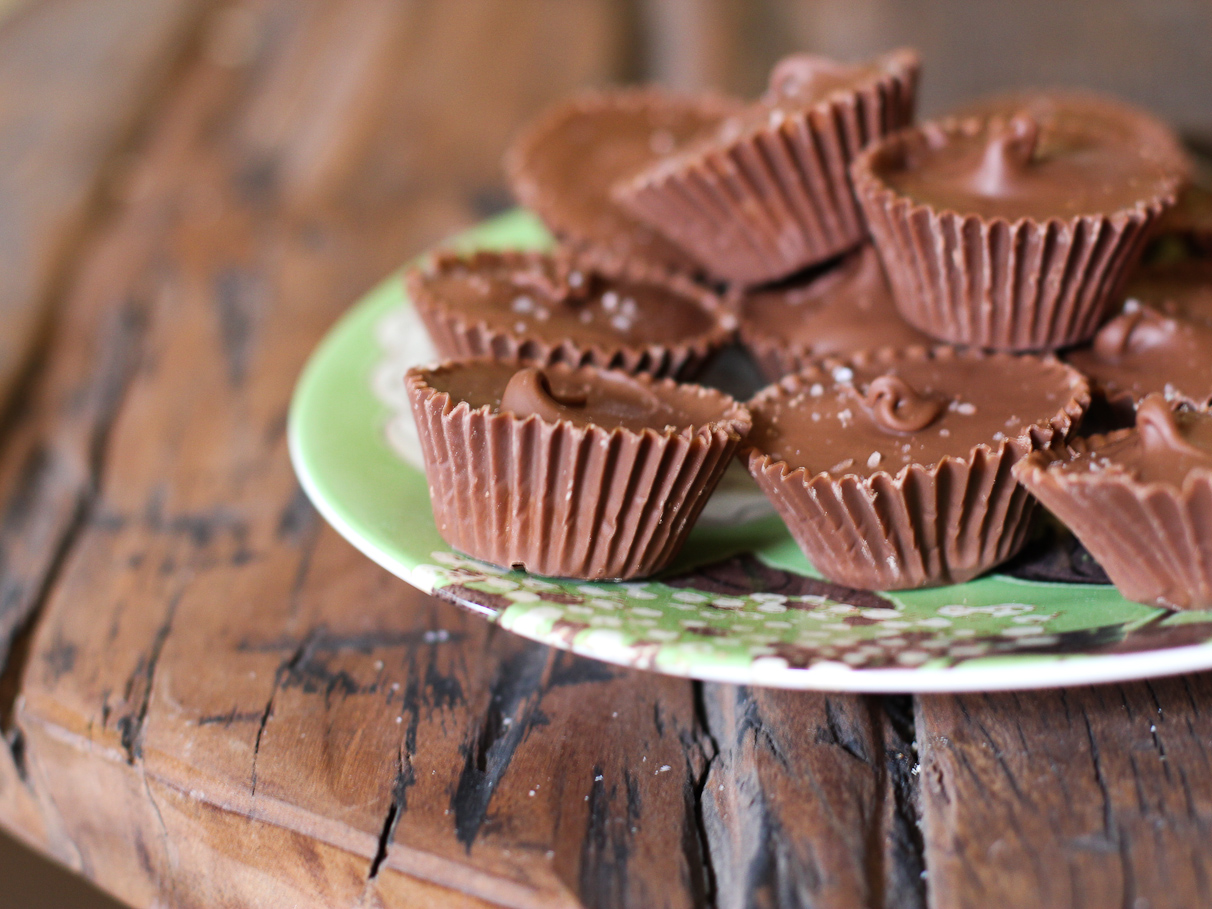 Homemade Peanut Butter Cup Recipe with Himalayan Sea Salt | Vintage ...