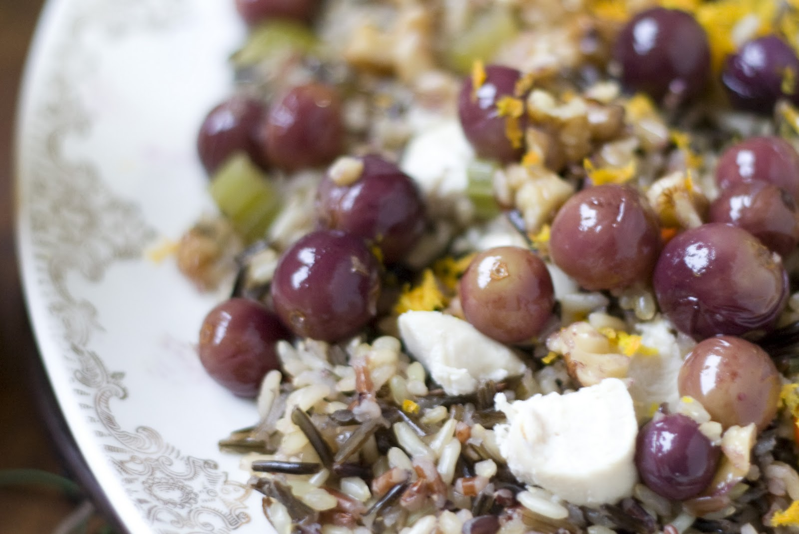 Roasted Grape and Walnut Rice Pilaf Recipe