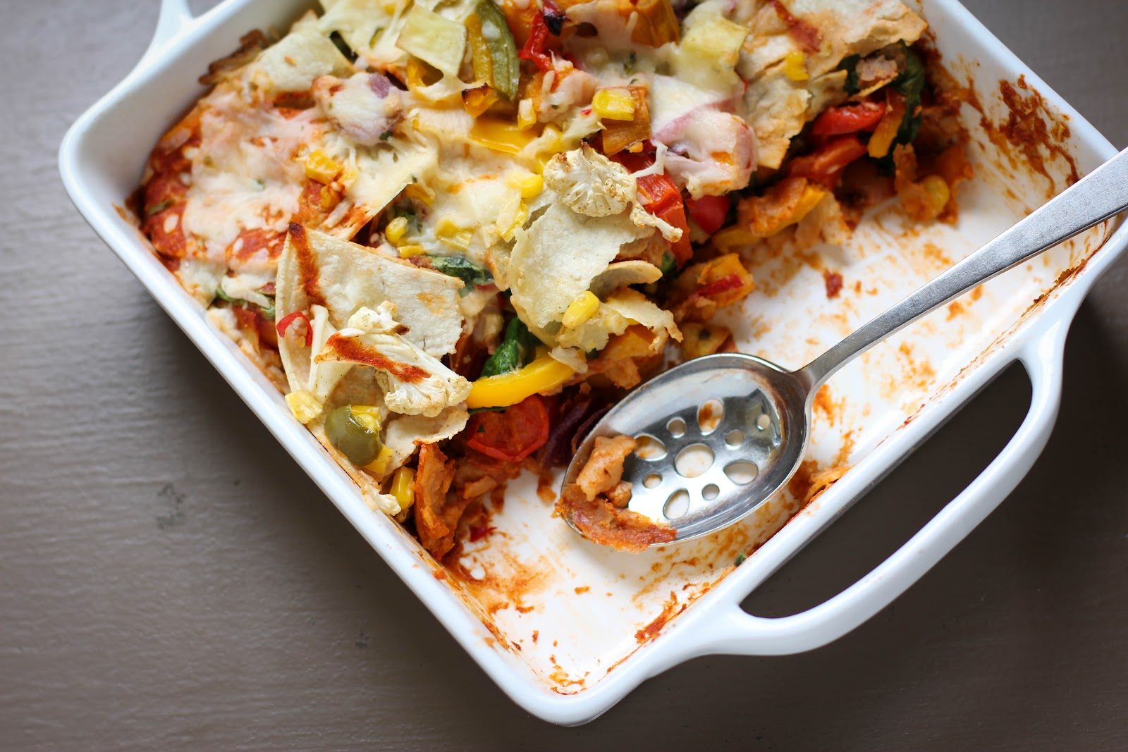 Roasted Vegetable Enchiladas | Vintage Mixer