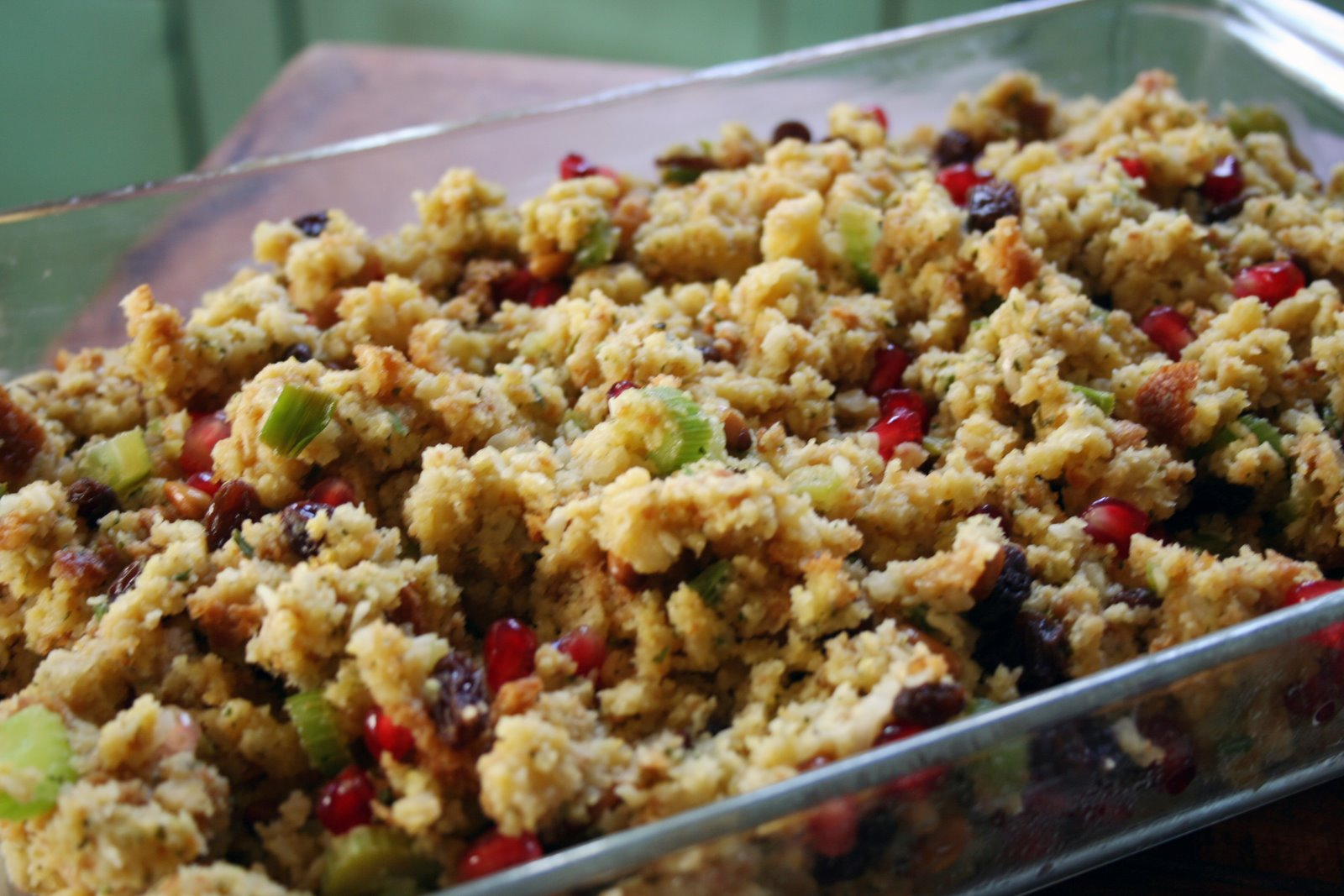 Pomegranate Cornbread Stuffing