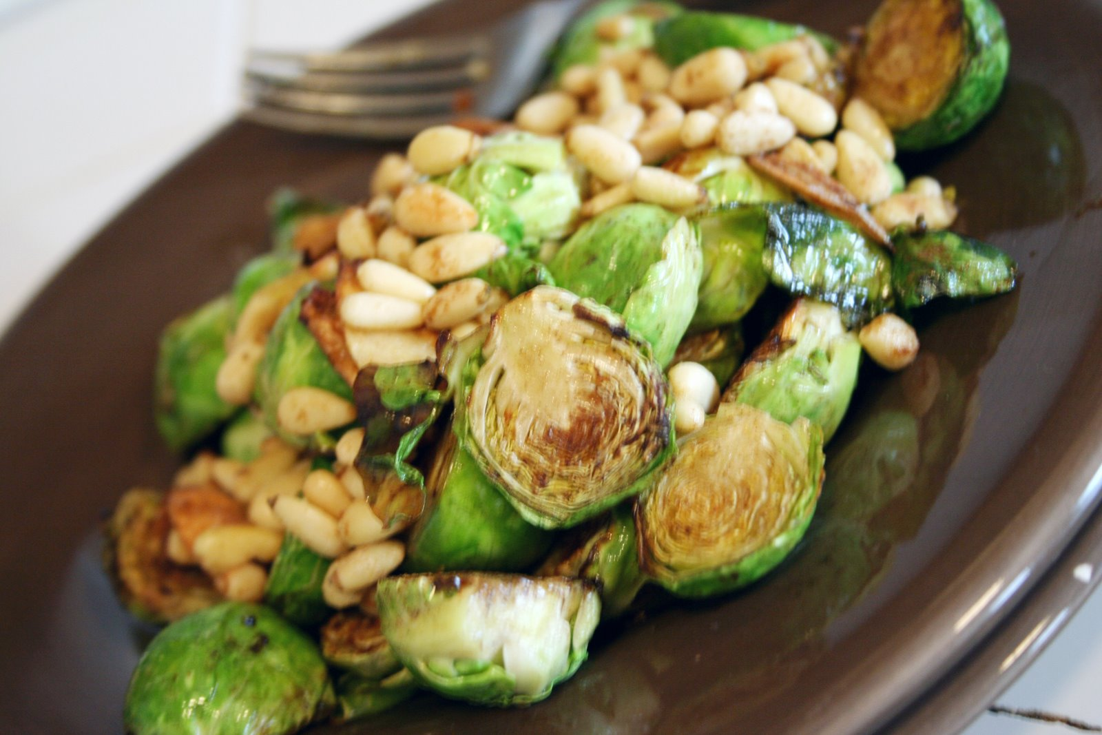 Pan-Browned Brussels Sprouts