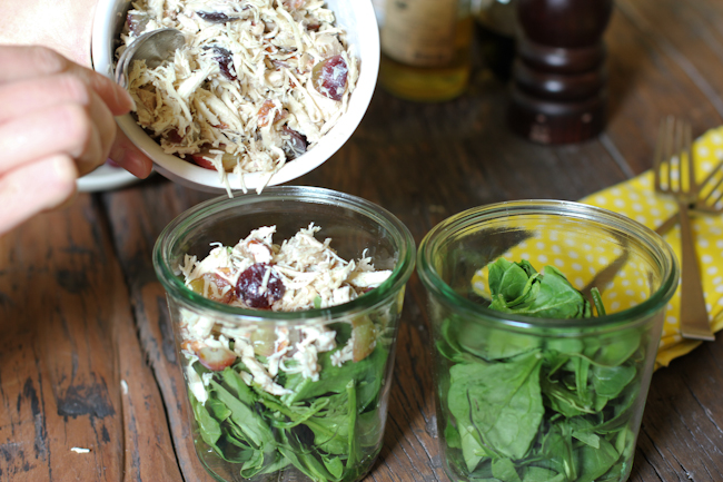 Chicken Salad Recipe in a Jar | Vintage Mixer