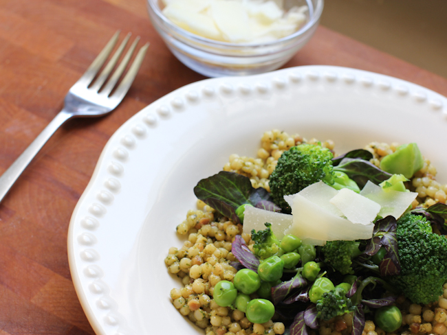 Israeli Couscous with Spring Greens