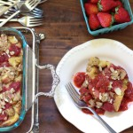 Baked Strawberry Rhubarb French Toast