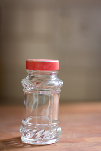 Vintage glass spice jars