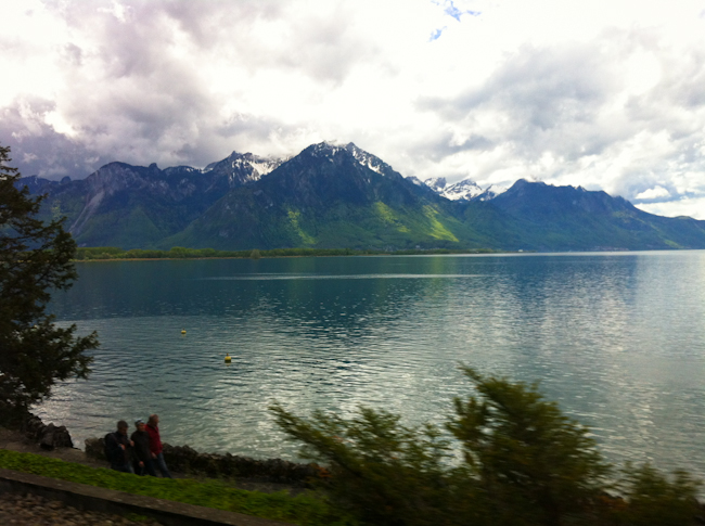 Train through Switzerland