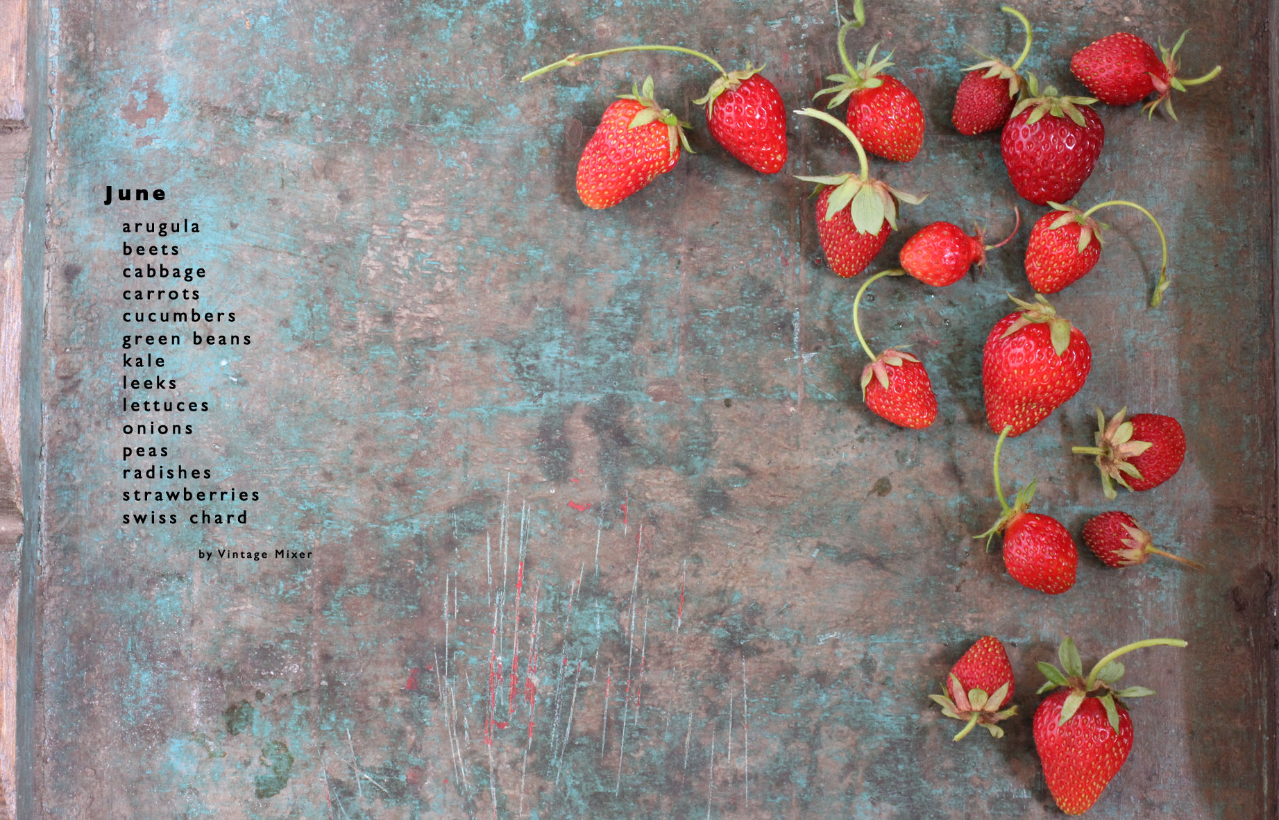 Seasonal Produce For June Vintage Mixer