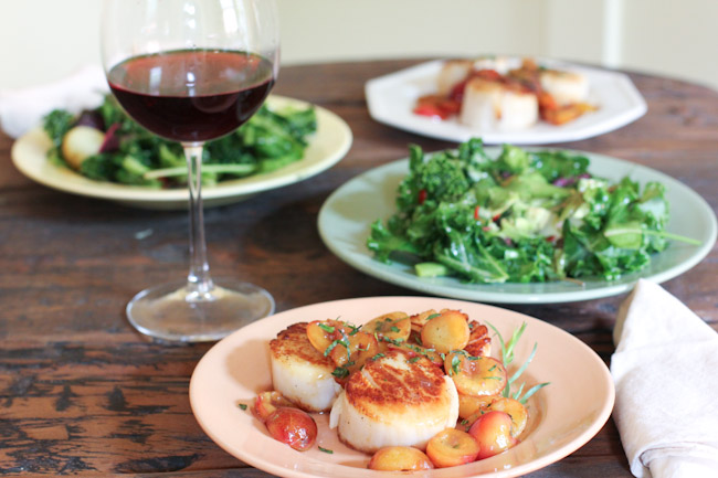 Sea Scallops Recipe with Fresh Cherries and Tarragon