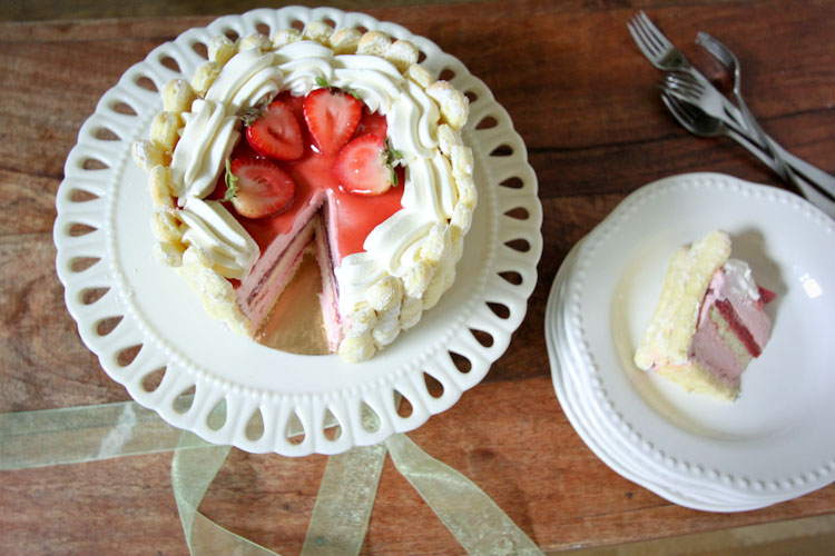 Strawberry Charlotte Recipe | Vintage Mixer