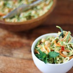 Zucchini Noodle Salad Recipe with Spicy Peanut Sauce