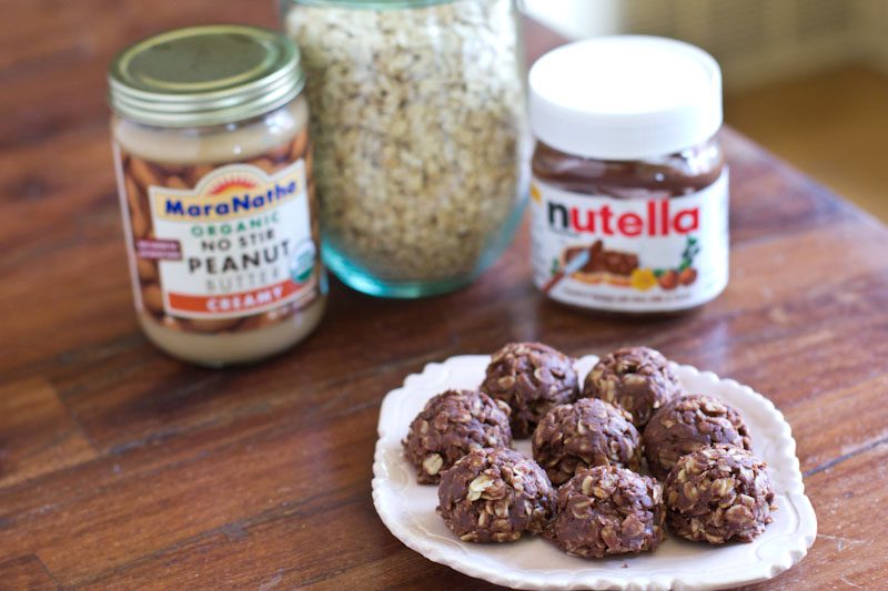 Nutella no bake cookie recipe