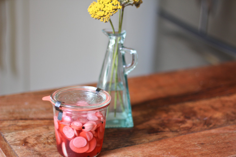 Strawberry Pickled Radishes Recipe