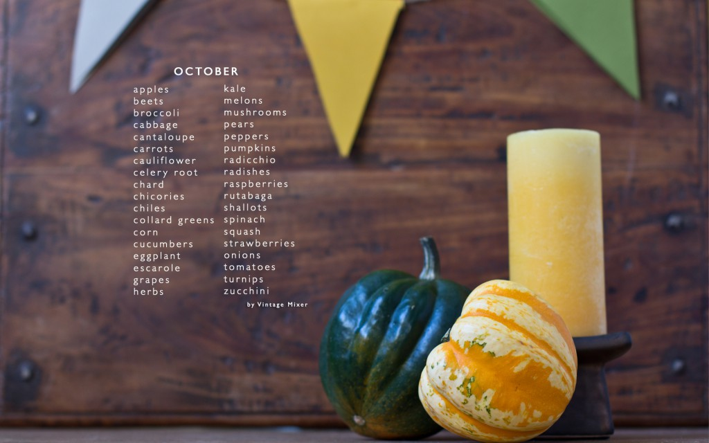 Seasonal Produce for October Unprocessed
