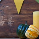 Seasonal Produce List for October Unprocessed