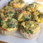 Egg Muffin Recipe with Peppers, Kale, and Cheddar