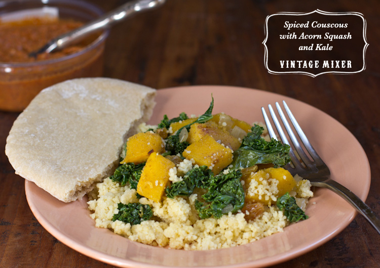 Spiced Couscous with Acorn Squash and Kale • Thanksgiving Side Dish ...