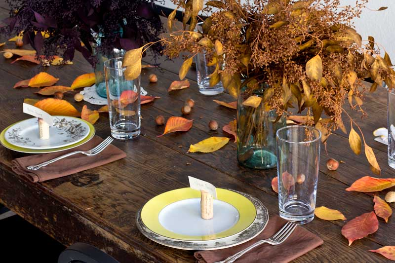 Inexpensive thanksgiving table decorations vintage mixer Cheap thanksgiving table setting ideas