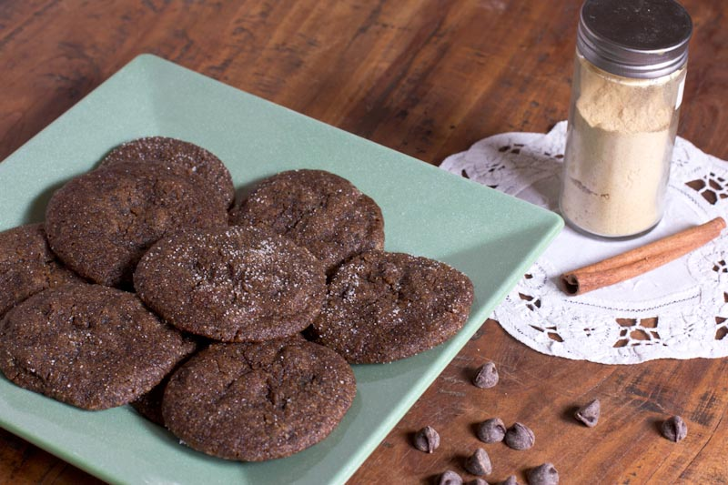 Chewy Chocolate Gingersnap Cookies Recipe