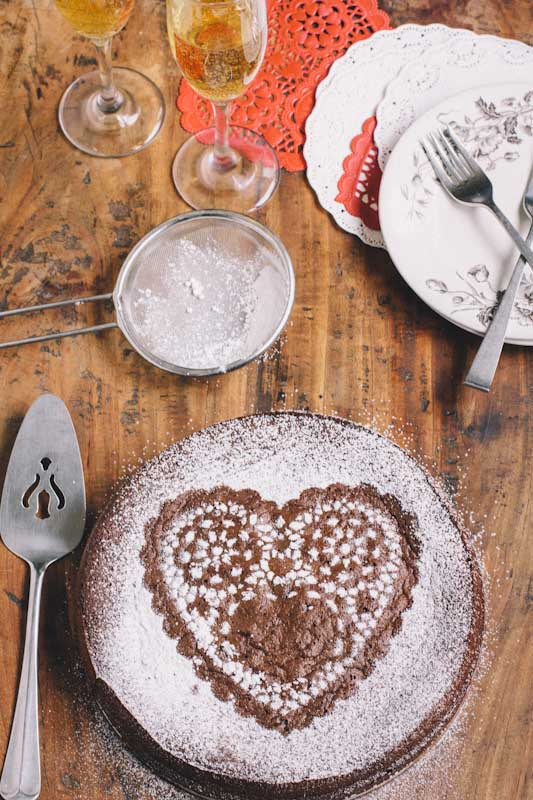 Valentines Day Flourless Chocolate Cake Recipe