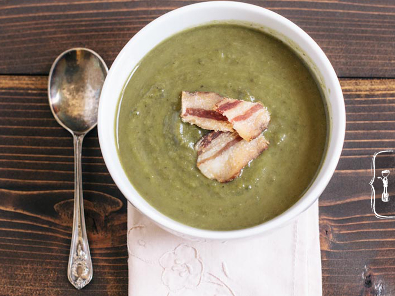 Green Soup Recipe with Kale Swiss Chard and Avocado