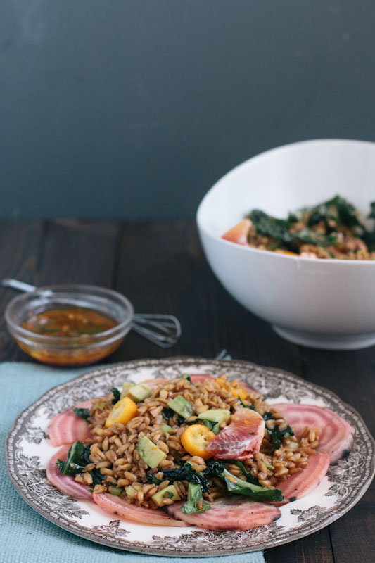Farro Salad Recipe with Blood Oranges, Kumquats, and Beets