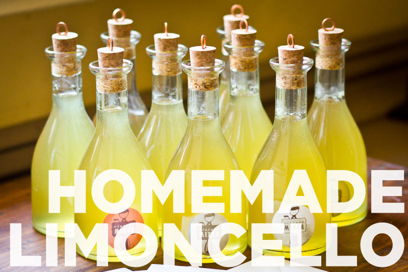 Homemade Limoncello