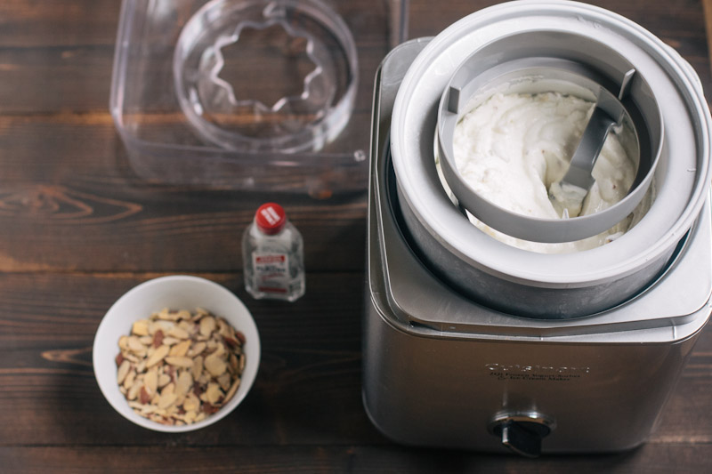 Honey Almond Frozen Yogurt Recipe
