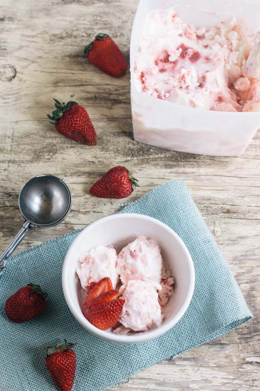 Strawberry Rhubarb Frozen Yogurt Recipe