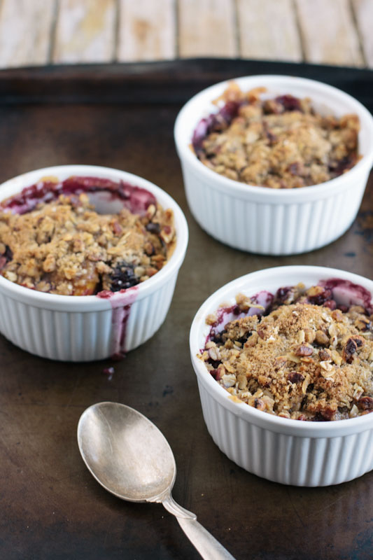 Blackberry Mango Crisp by Completely Delicious