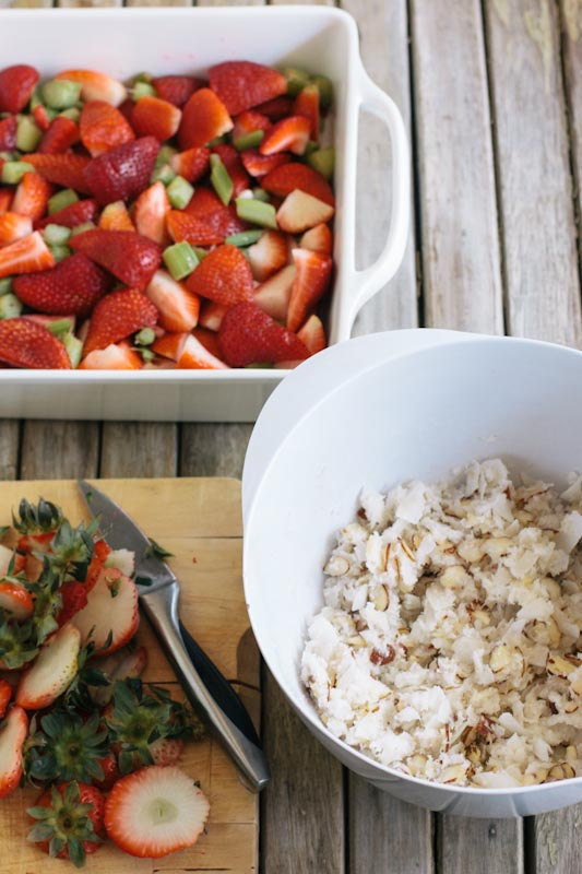 Strawberry Rhubarb Coconut Crisp Recipe