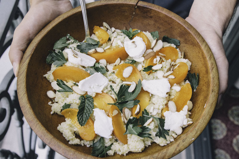 Apricot Couscous Salad with Apricot Vinaigrette