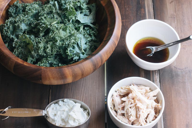 Kale and Coconut Chicken Salad Recipe