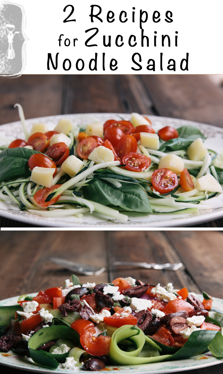 Easy Recipes for Zucchini Noodle Salad. All you need is a vegetable ...