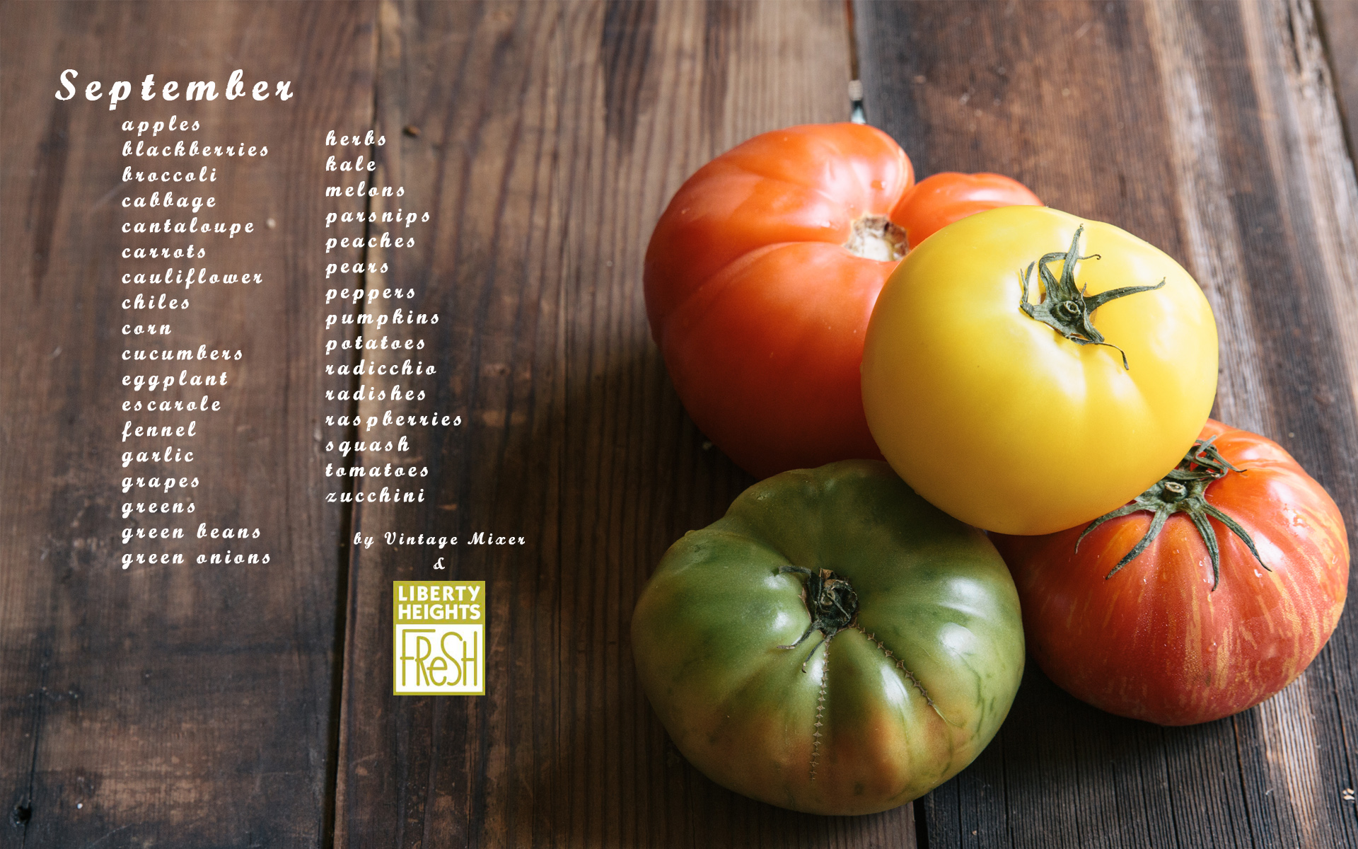 Seasonal Produce List for September
