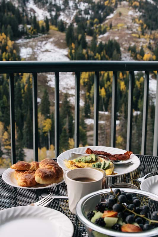 Breakfast in the Mountains