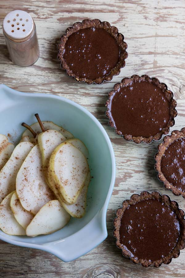 Pear Chocolate Tartlet Recipe