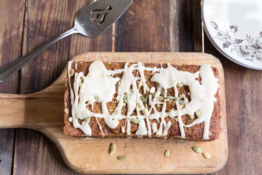 Pumpkin Bread Recipe with Maple Icing