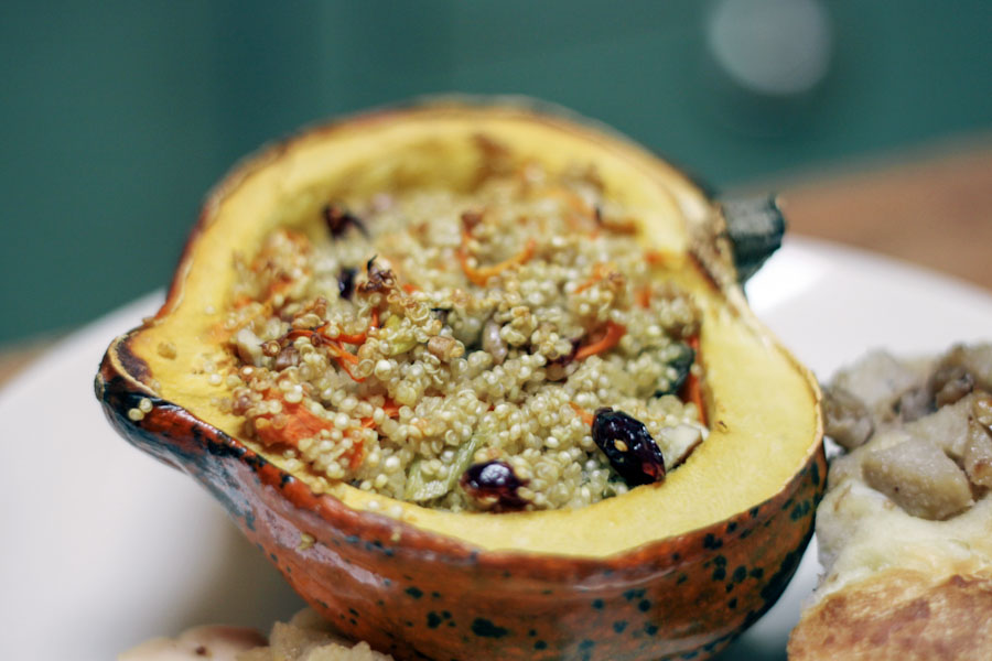 Quinoa Stuffed Acorn Squash Recipe