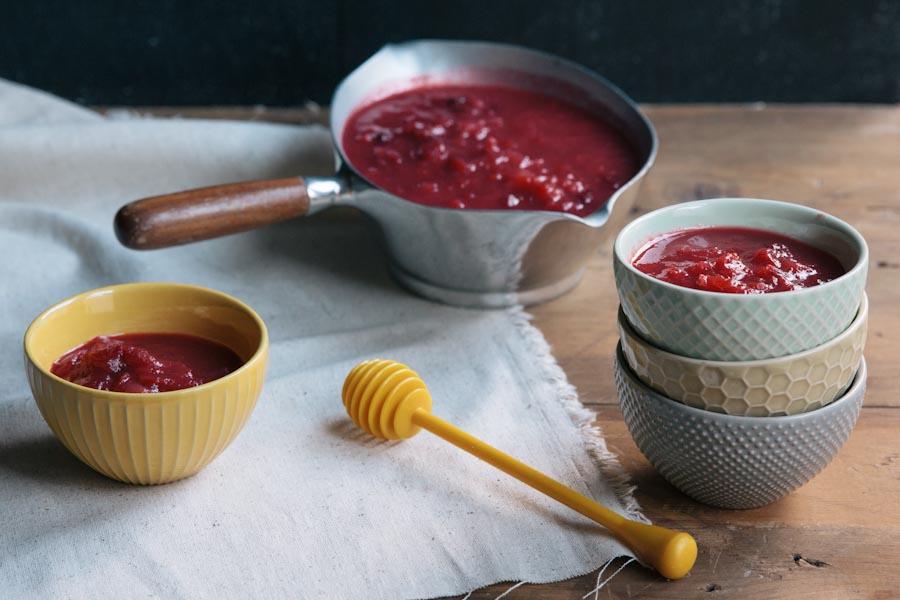 Sugar free Cranberry Sauce Recipe  • theVintageMixer.com