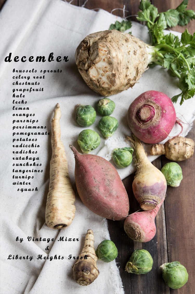 December Seasonal Produce List