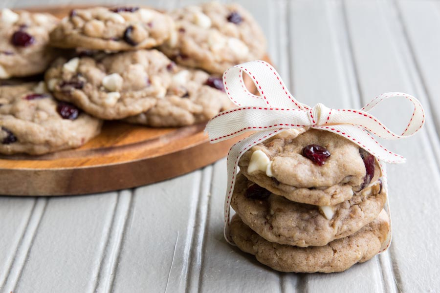 Cranberry White Chocolate Cookies with Shirley J Grains