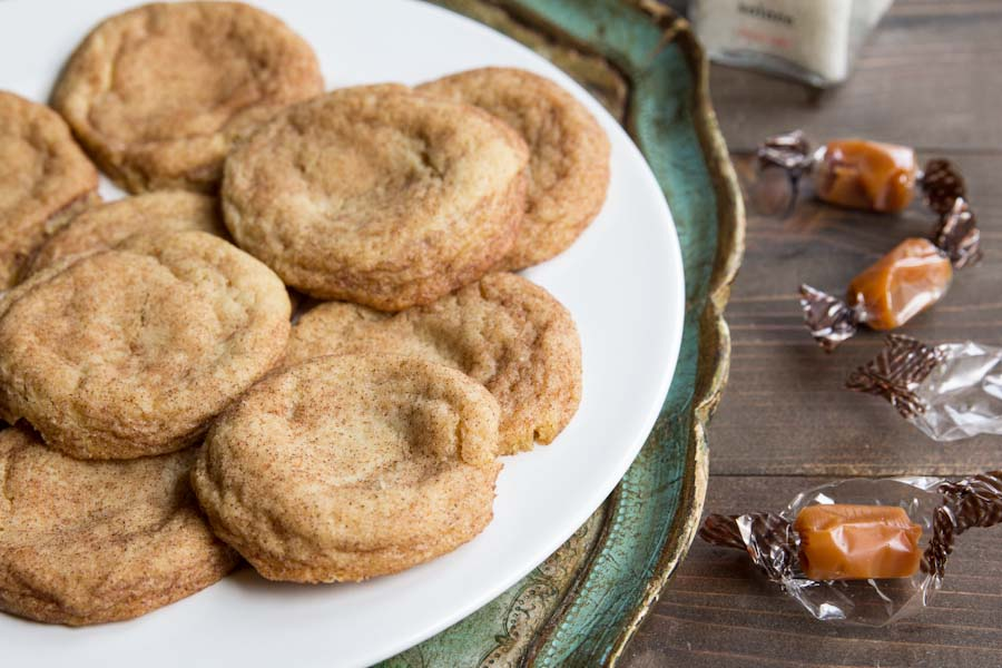 Salted Caramel Snickerdoodles